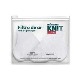 Filtros de Proteção para Máscara Knit Fiber -30 Unidades
