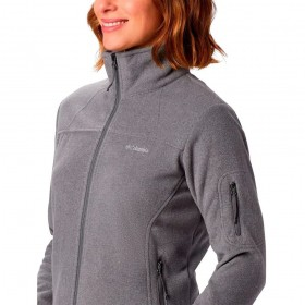 Jaqueta Fast Trek II Fleece Feminina Columbia City Grey Heather