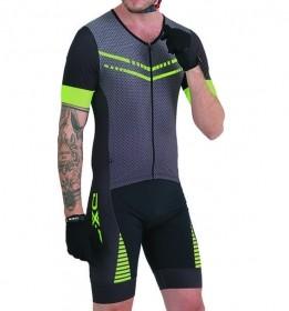 Macaquinho Ciclismo Masculino DX-3 Preto/ Verde