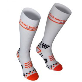 Meia Bike/ Running/ Trail de Compressão Full Socks V2 Unissex Cano Longo Compressport