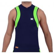 Camiseta Regata de Alta Compressão DX3 X-Power Masculino Triathlon