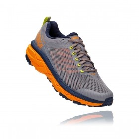 Tênis Challenger ATR 5 Masculino Hoka One One Frost Gray Bright Marigold
