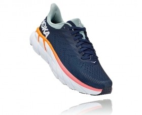 Tênis Clifton 7 Feminino Hoka One One Black Iris Blue Haze