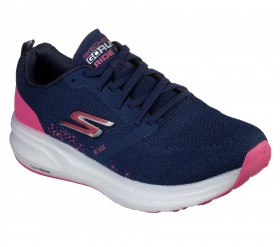 Tênis Go Run Ride 8 Feminino Skechers Navy e Pink