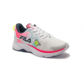 Tênis Para Corrida Racer MOTION Feminino Fila Branco e Rosa