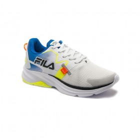 Tênis Para Corrida Racer MOTION Masculino Fila Branco e Azul