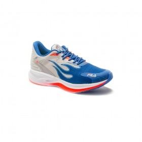Tênis Para Corrida Racer SPEED Masculino Fila Prata e Azul