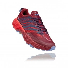 Tênis Speedgoat 4 Feminino Hoka One One Cordovan High Risk Red