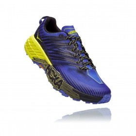 Tênis Speedgoat 4 Masculino Hoka One One Black Iris Evening Primrose