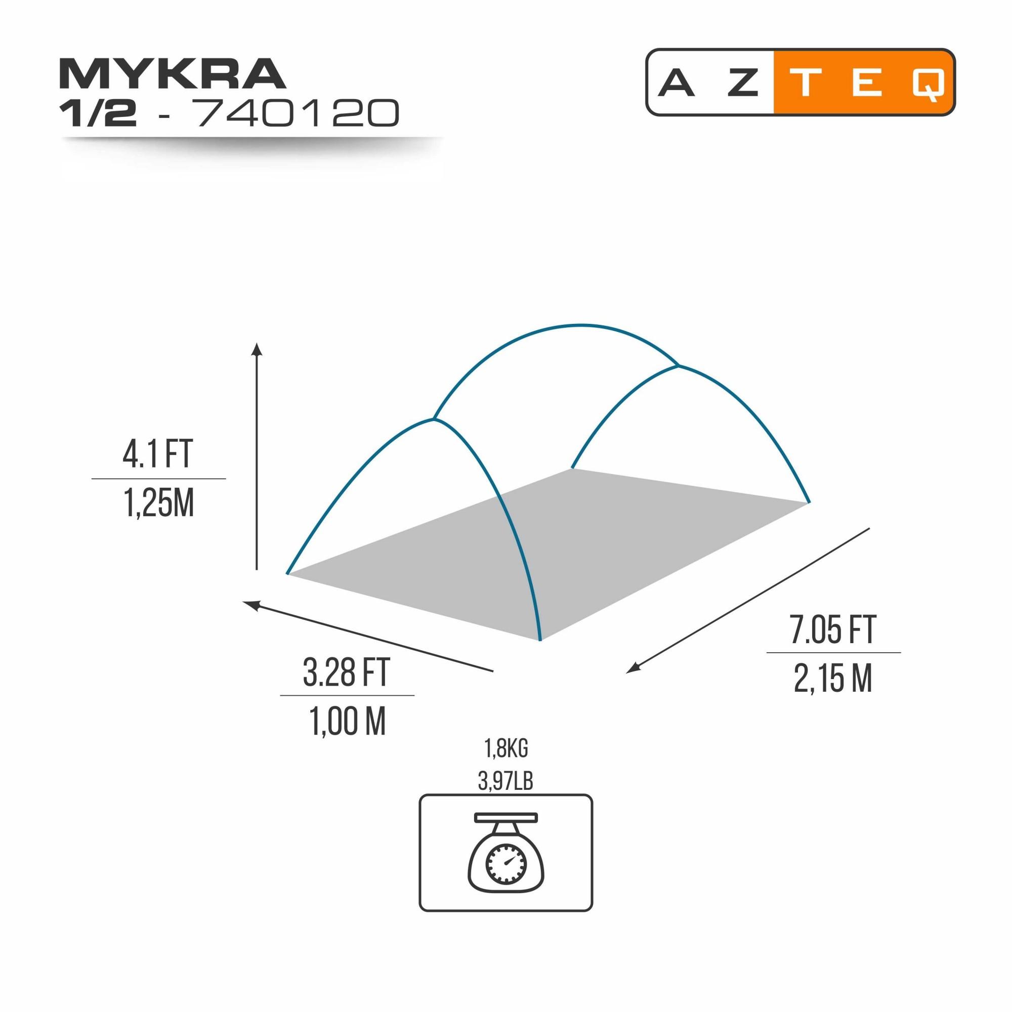 BARRACA MYKRA 1/2P UNICA
