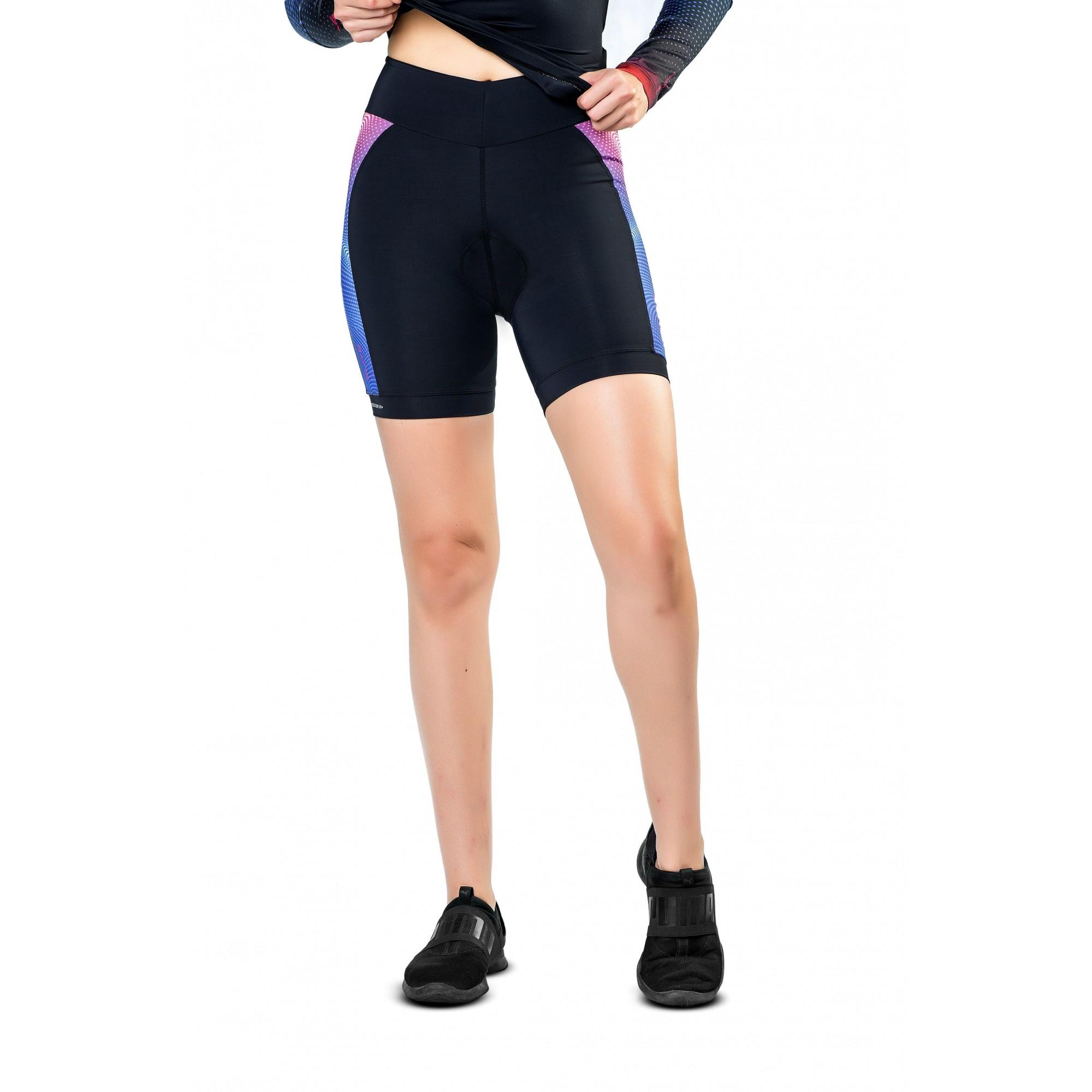 Bermuda para Ciclismo/ Bike com Forro de Espuma Para Feminina Elite
