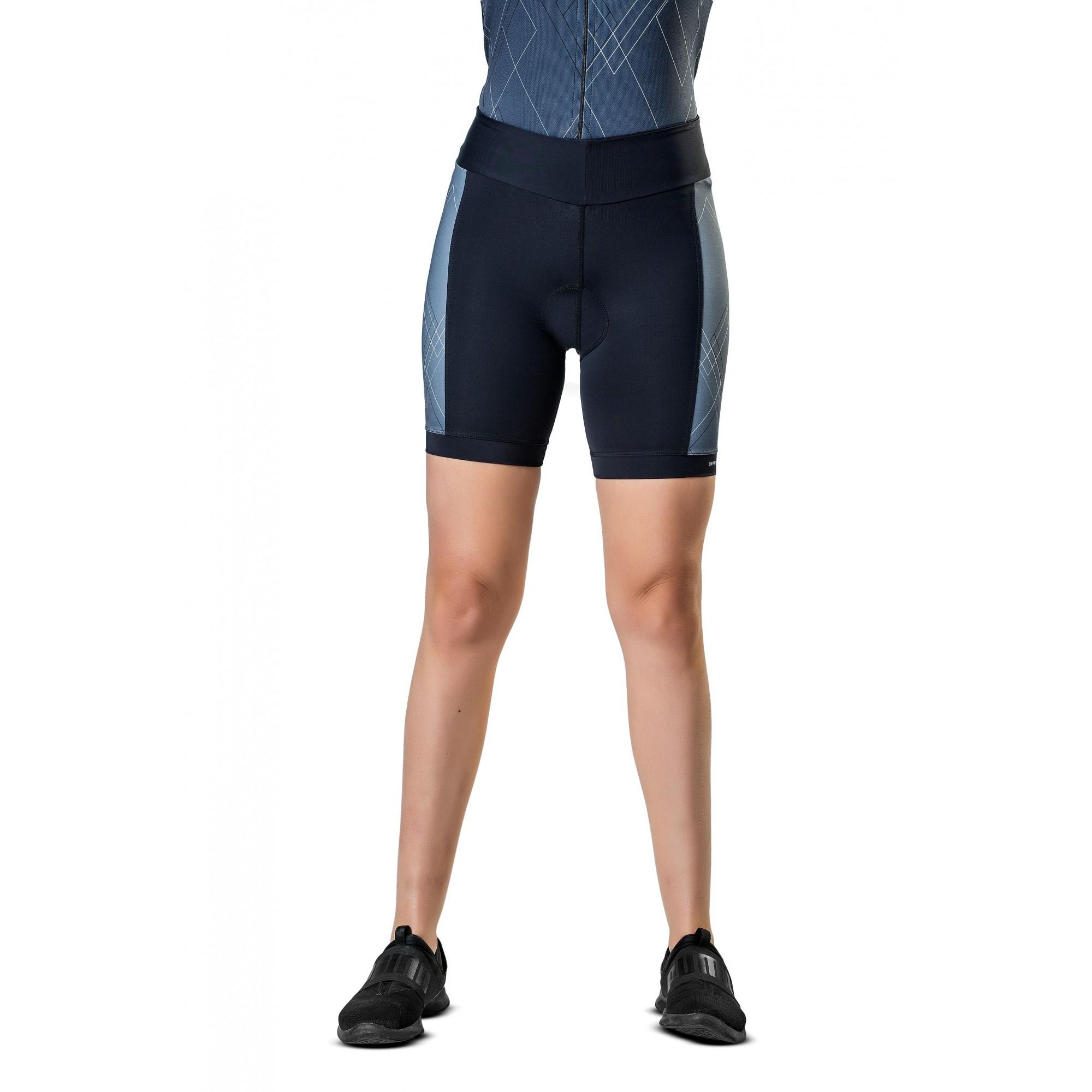 Bermuda para Ciclismo/ Bike com Forro de Espuma Feminina Elite