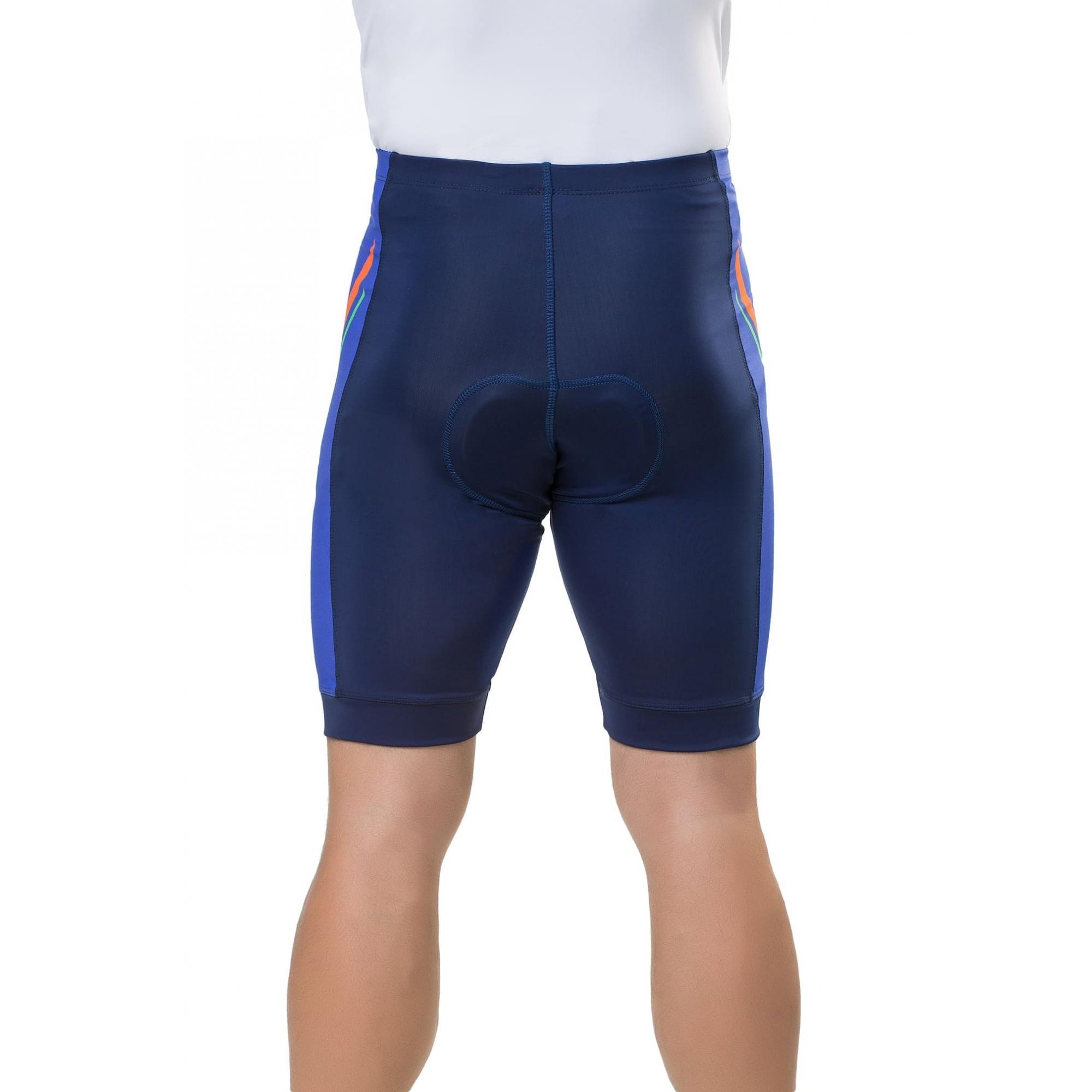 Bermuda Para Ciclismo com Forro de Espuma Masculina Elite Marinho/Royal