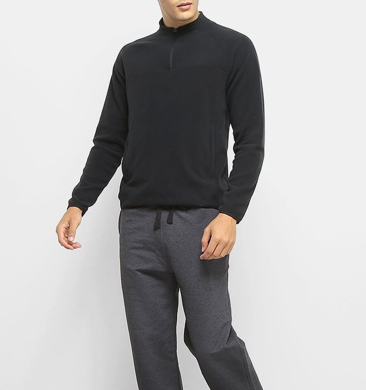Blusa AM Fleece Masculina Lupo