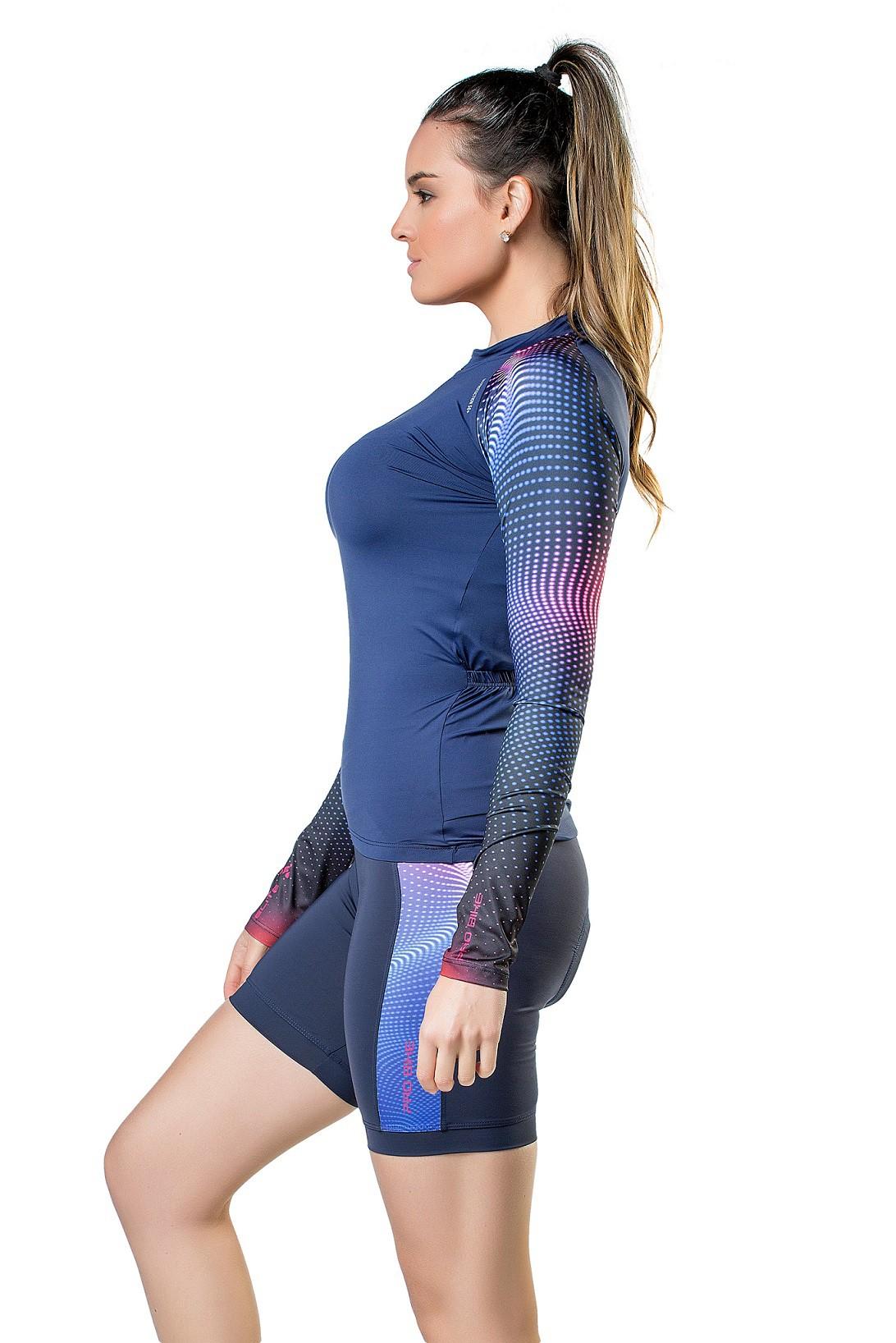Camisa/ Blusa Para Ciclismo Special Feminina Elite Marinho