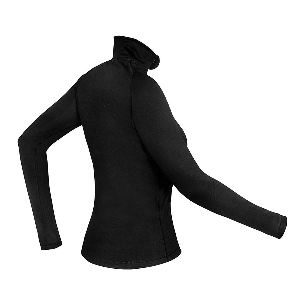 Camiseta/ Blusa Segunda Pele Térmica Manga Longa ThermoSkin 1/2 Zip Feminina Curtlo