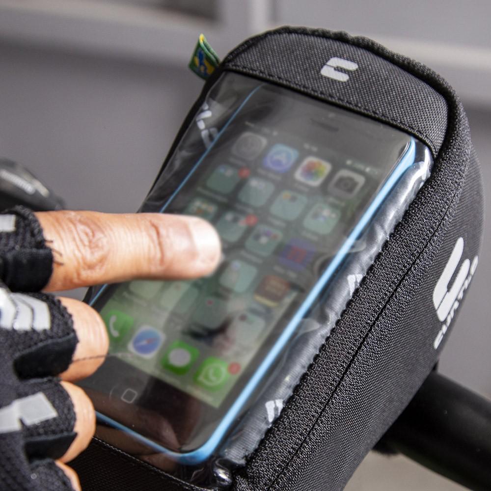 Bolsa De Guidão Touch Phone Curtlo
