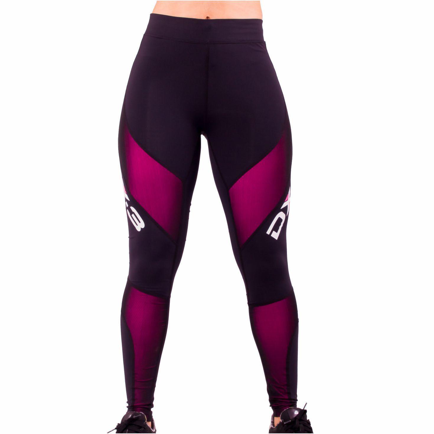 Calça DX3 X-Pro de Compressão Feminina Para Corrida Fitness Trekking