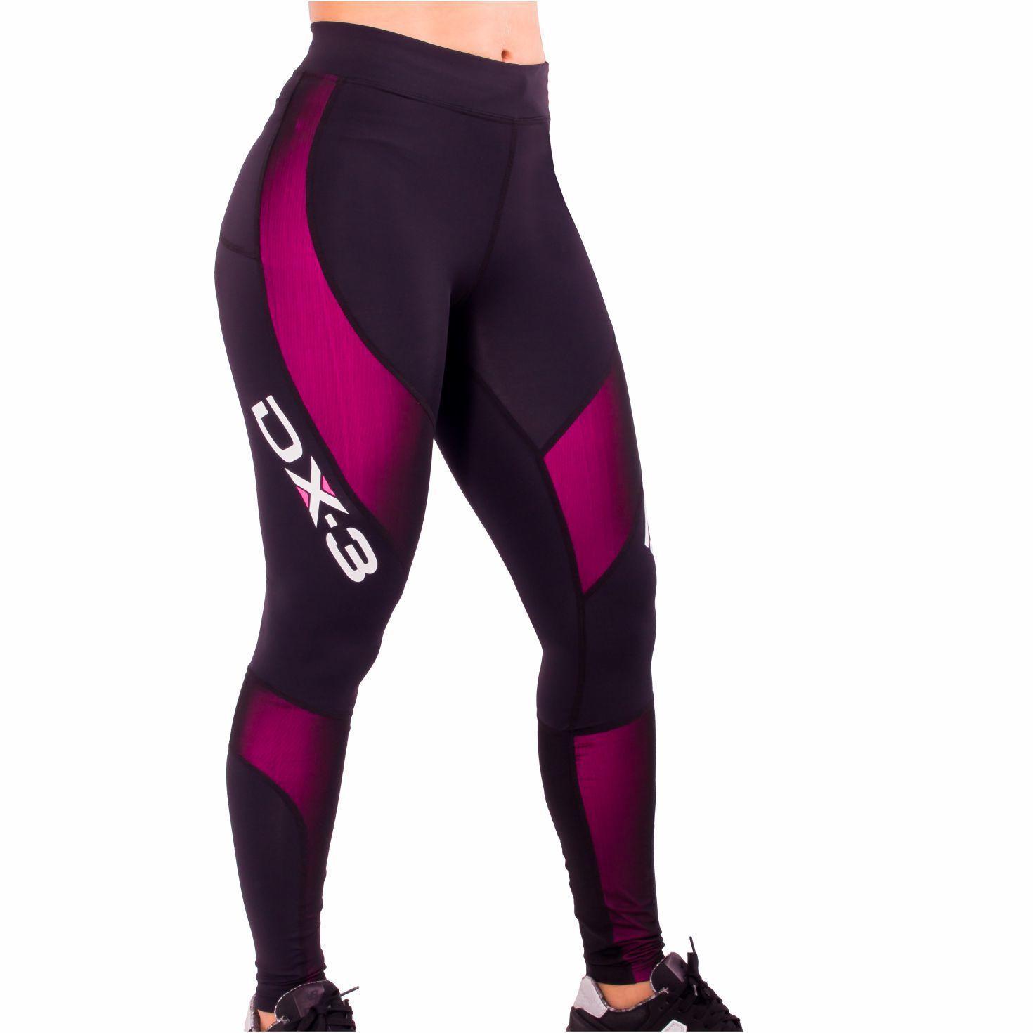 Calça Dx3 X Pro de Compressão Feminina Para Corrida Fitness Trekking