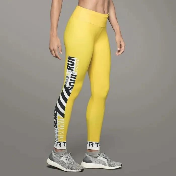 Calça Legging Print Feminina Lupo Amarela