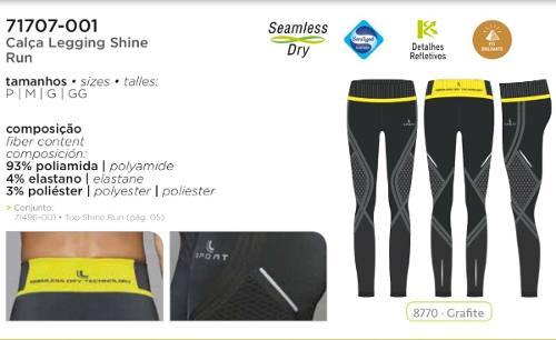 Calça Legging Shine Run Feminino Lupo