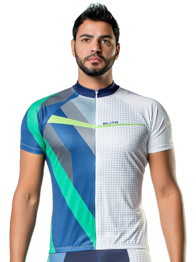 Camisa Bike Esportiva Manga Curta Digital Masculina Elite