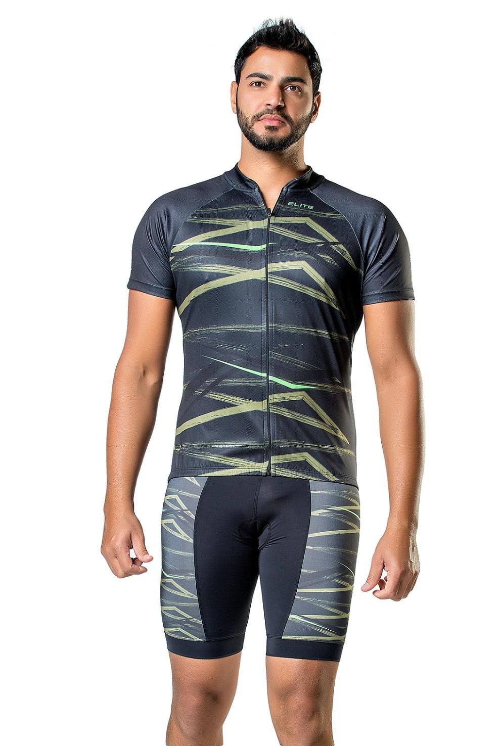 Camisa Bike Esportiva Manga Curta Masculina Elite