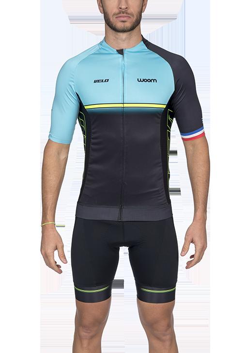 Camisa Ciclismo Supreme Velo Azul Masculino Woom