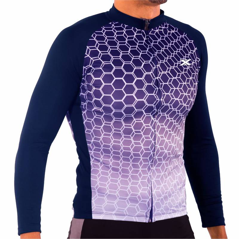 Camisa Manga Longa de Ciclismo Montop Masculino DX3