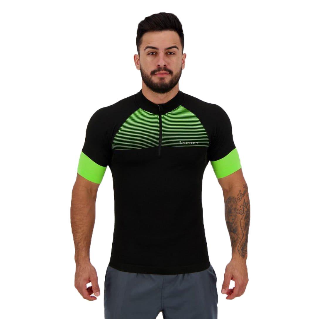 Camiseta LS Bike Masculina Lupo Preta