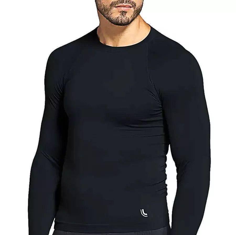 Camiseta Manga Longa T Shirt Térmica Run Masculino Lupo