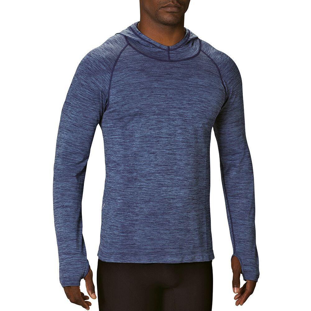 Camiseta manga longa blusa Lupo AM Run Capuz masculina