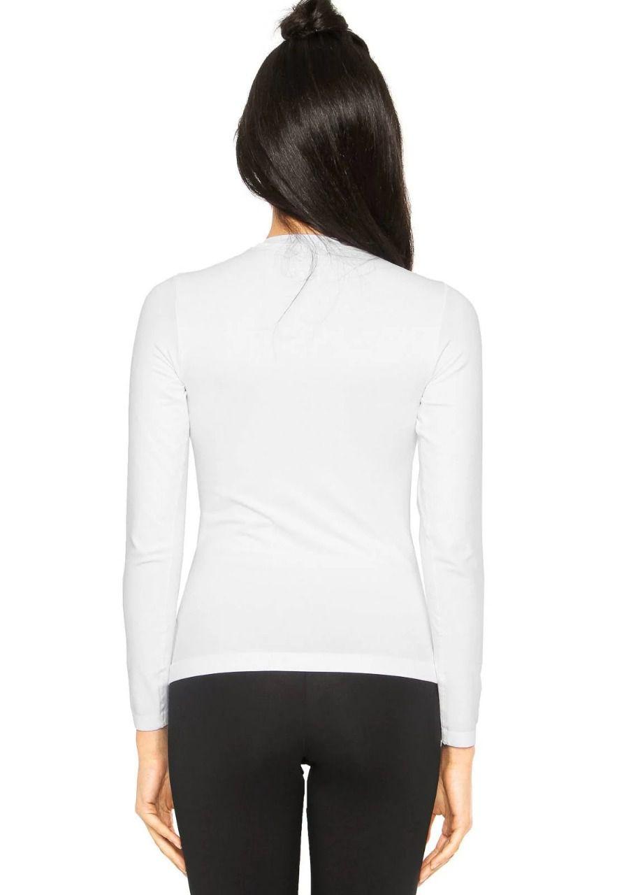 Camiseta Manga Longa Blusa T Shirt Uv Protection Feminino Lupo