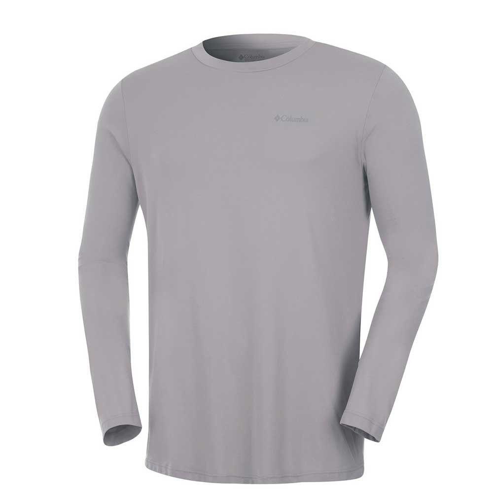 Camiseta Manga Longa Segunda Pele Neblina Masculina Columbia