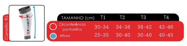 Canelito / Pernito de Compressao R2V2 Unissex Compressport
