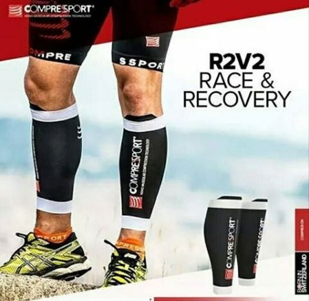 Canelito de Compressao R2V2 Unissex Compressport Branco
