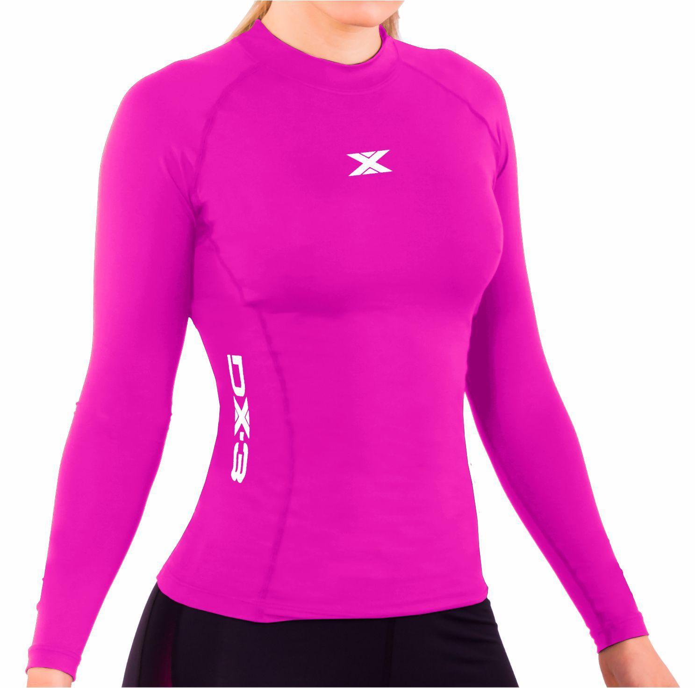Camisa Manga Longa blusa de Compressão X Soft Feminina