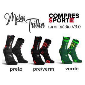 Meia de Compressão Para Trilha Unissex V3.0 Cano Médio Compressport