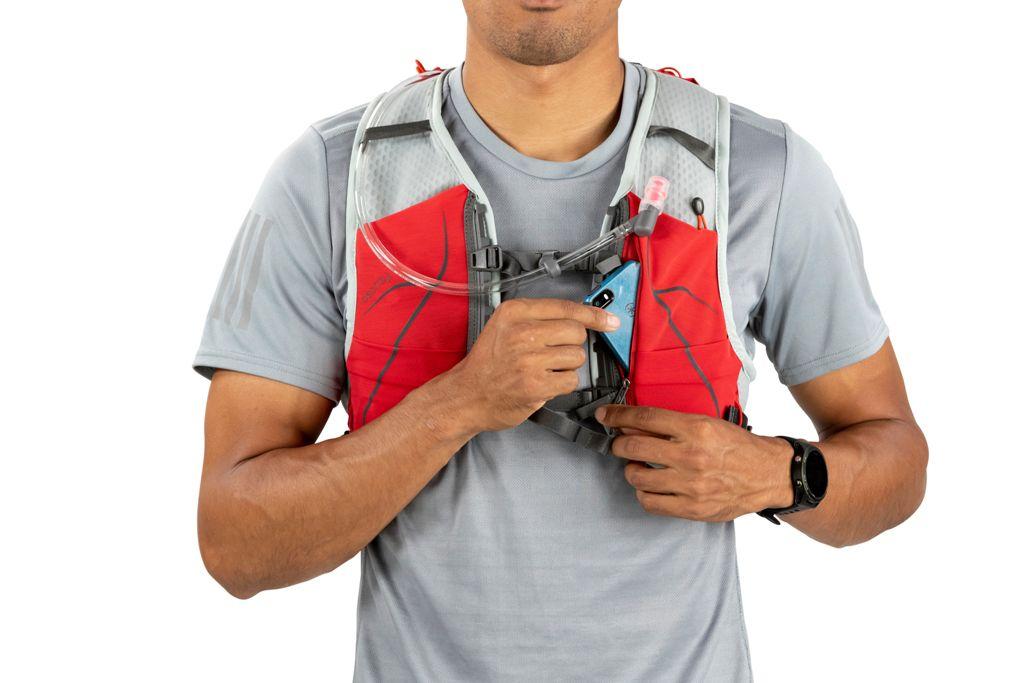 Mochila Duro 6 M/G Com Flask Vermelha Unissex Osprey
