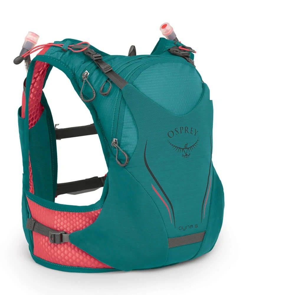 Mochila Dyna Osprey 6 P M Verde Com Flask Feminina