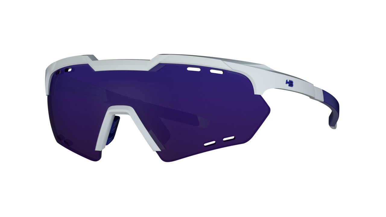 Óculos Shield Compact Small Mountain Pearled White Multi Purple