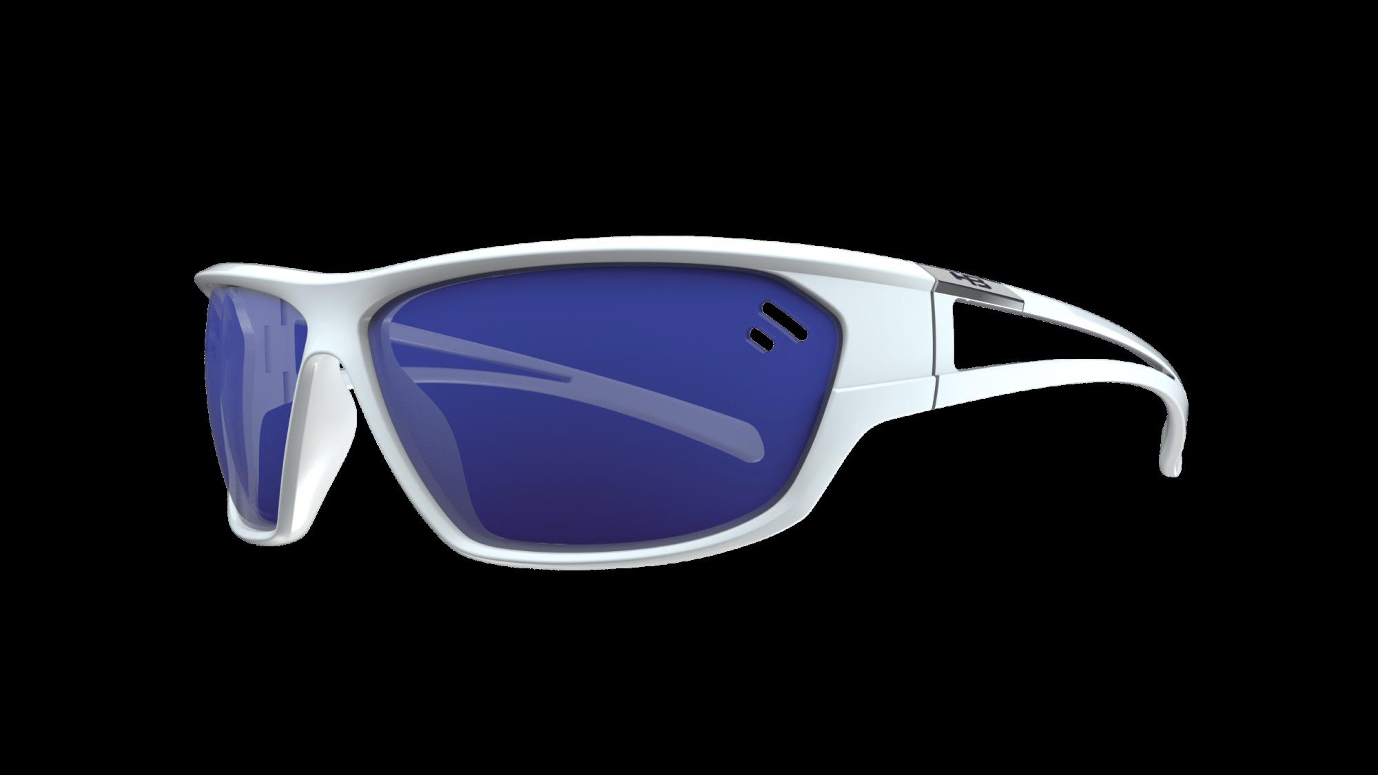 Óculos Flip HB Pearled White Blue Chrome
