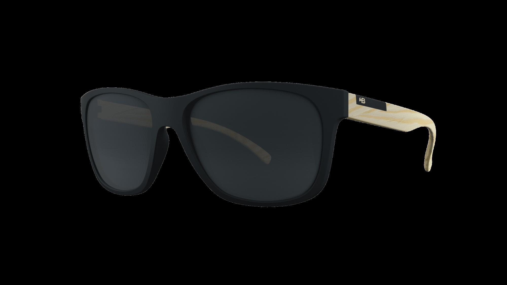 Óculos HB Underground Matte Black Wood Gray