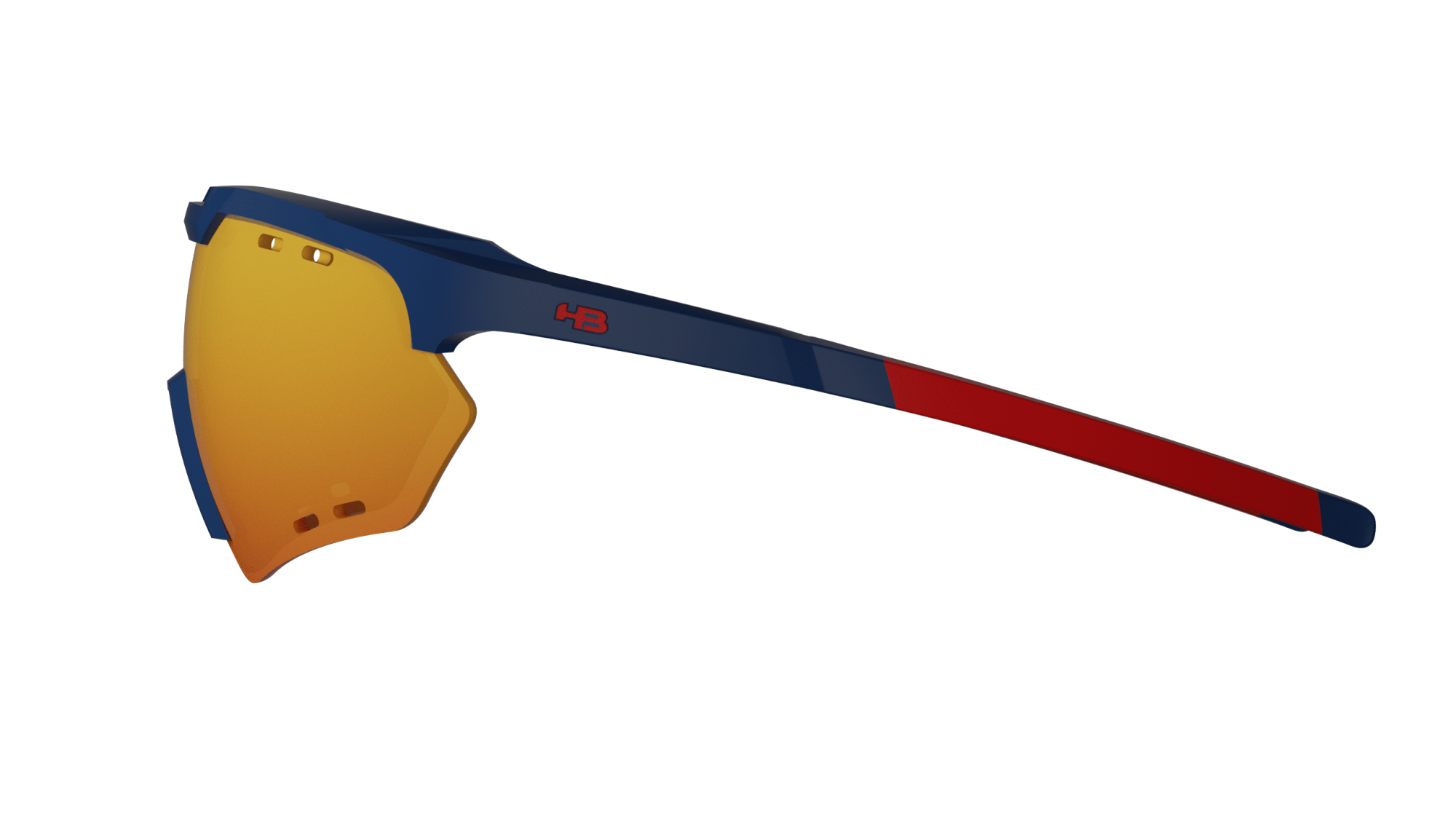 Óculos Shield Compact Small Road HB Matte Navy Multi Red