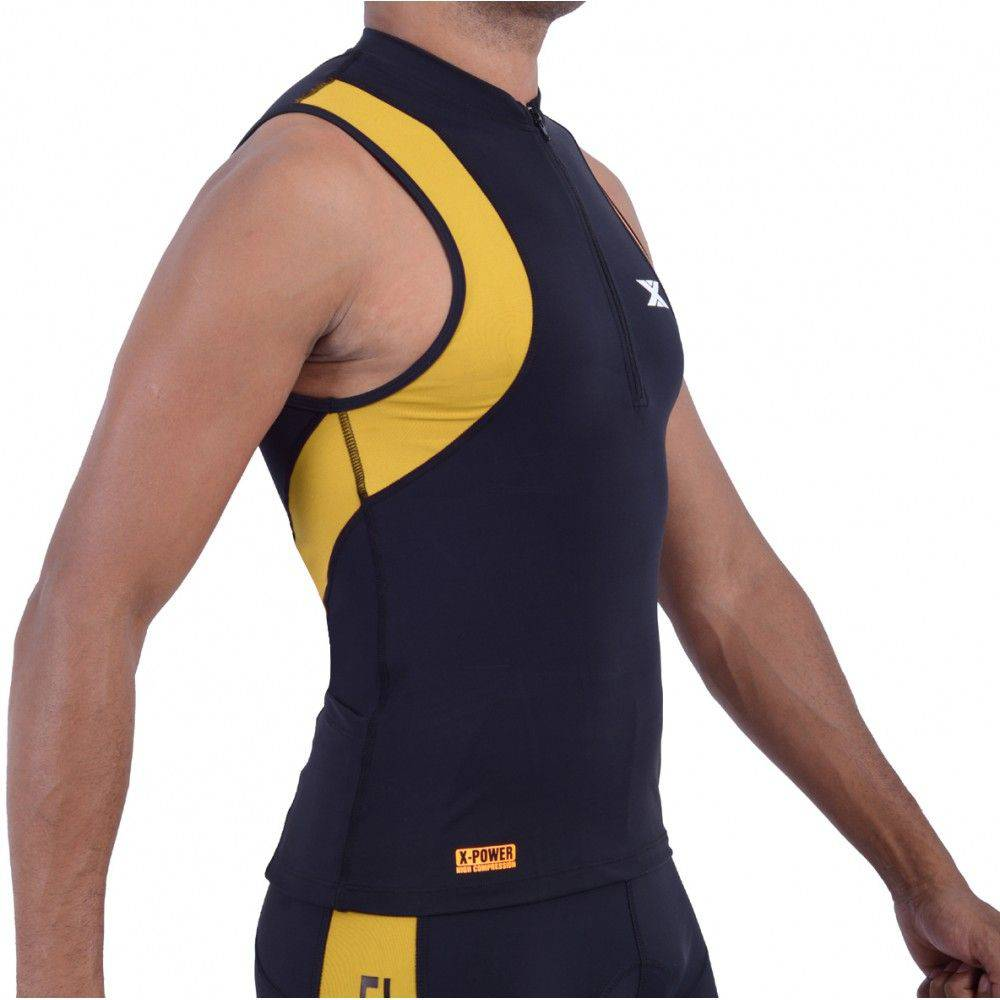 Camiseta Regata de Alta Compressão DX3 X Power Masculino Triathlon