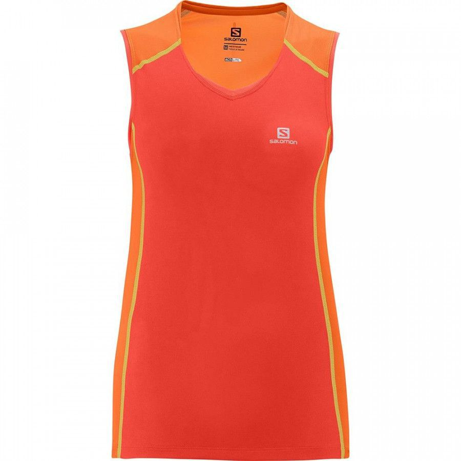 Camiseta Trail Running Regata Feminina Trail Runner Salomon
