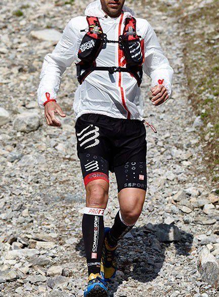 Short Bermuda Sobreposição Masculino Para Corrida Run Overshort Compressport