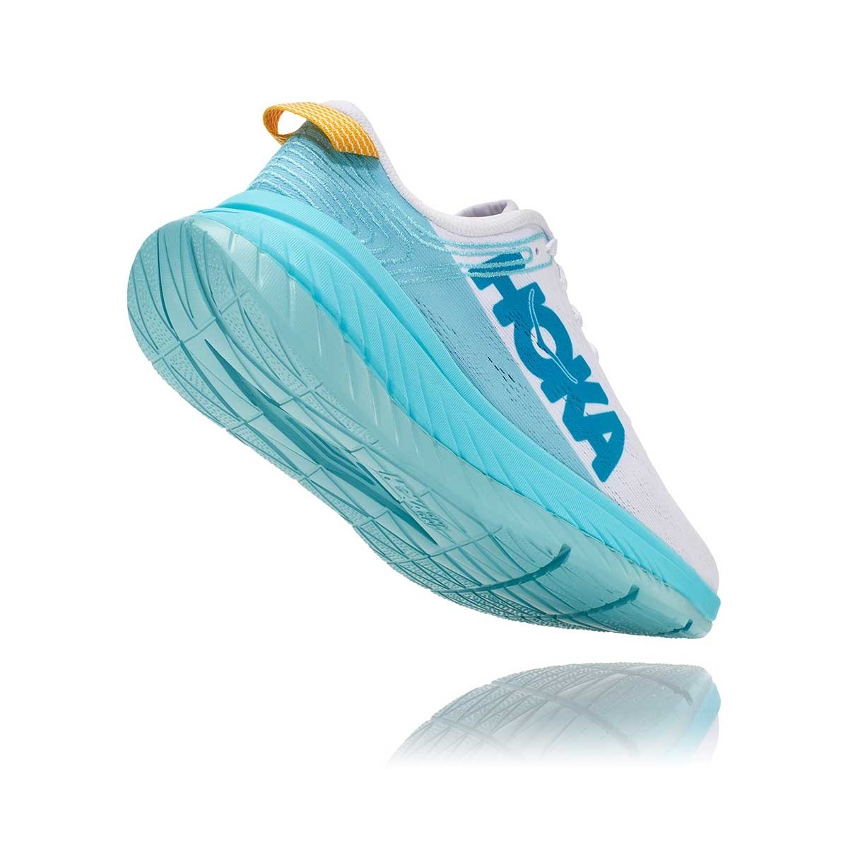 Tênis Carbon X Feminino Hoka One One White Angel Blue