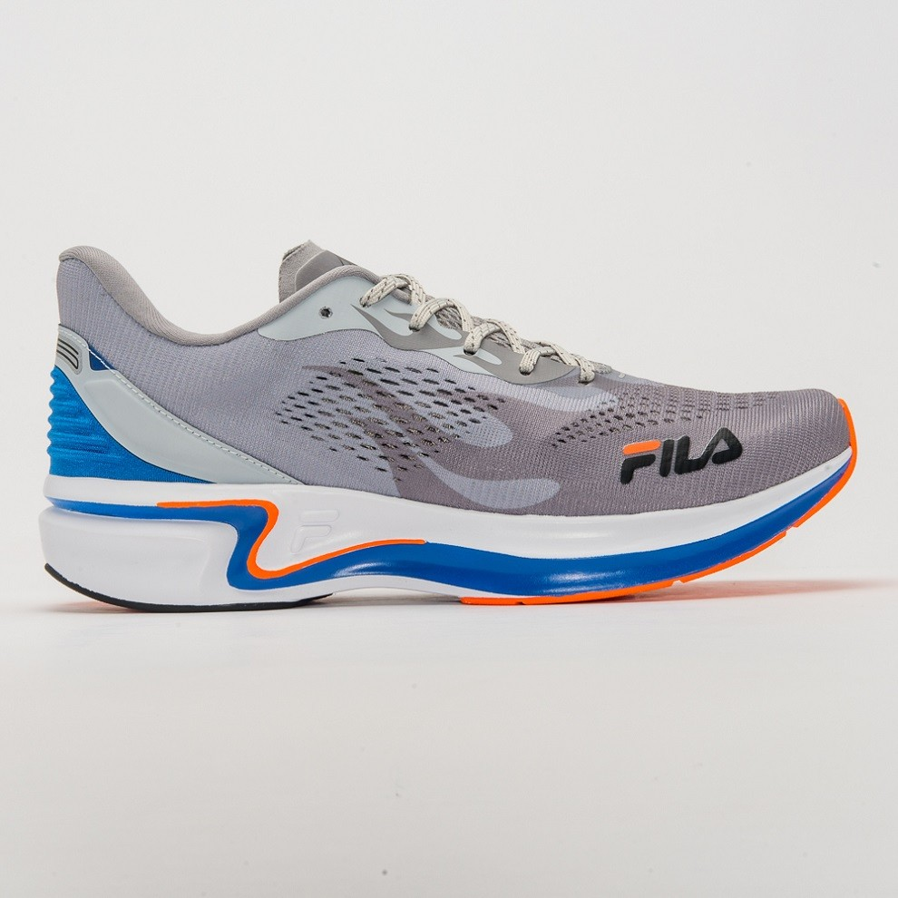 Tênis Para Corrida Racer SILVA Masculino Fila Prata e Azul