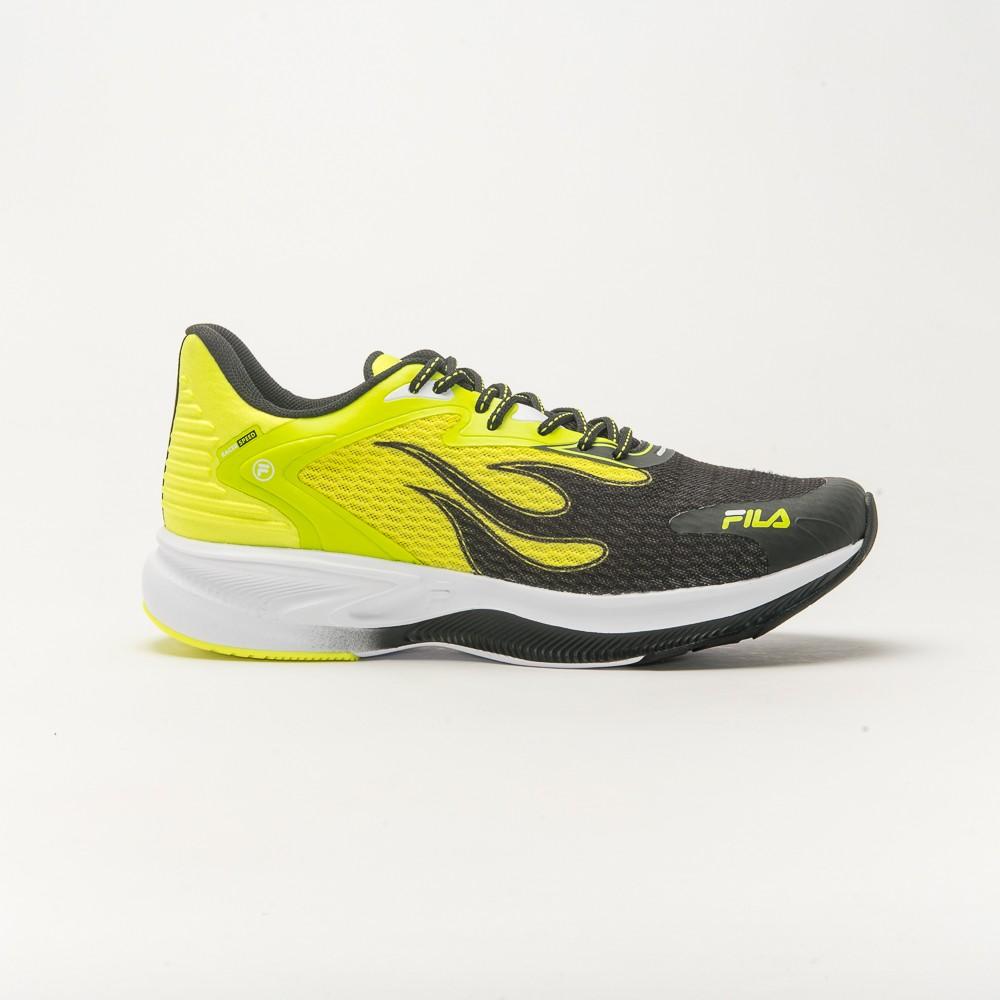 Tênis Para Corrida Racer SPEED Masculino Fila Verde Limão e Preto
